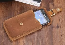crazy horse leather waist pack phone bag belt pouch holster cover genuine leather hand made hasp