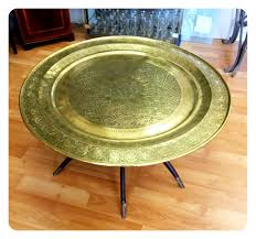 moroccan brass tray table 3