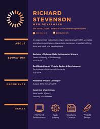 Web Developer Resume Enchanting Purple Web Developer Resume Templates By Canva