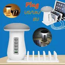 Multi 5 Port USB Charger Mushroom Night Lamp USB ... - Vova