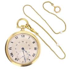 antique cartier gold pocket watch penknife tie pin boxed set for