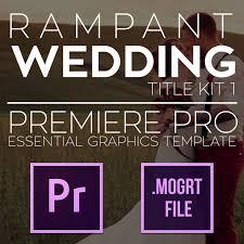 Wedding Title Template Rampant Wedding Title Kit 1 Premiere Pro Title Kit