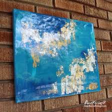 735x735 doodlecraft gold leaf high gloss resin canvas painting acrylic painting gloss finish