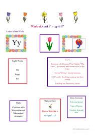 Weekly Newsletter Template English Esl Worksheets