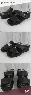 Sanita Shoe Size Conversion Chart Sanita Black Leather Slides Eu 41 Us 10 5 11 Sanita Black