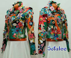 leather jacket multicolor 00