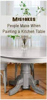 chalk paint on a dining table
