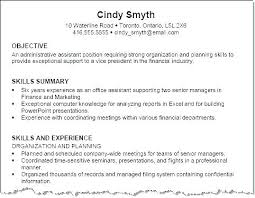 Best Objective For Resume Stunning Examples Of Resumes For A Job Examples Of Career Objectives On