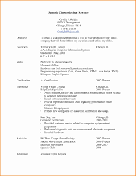 Chronological Format Resume Example Chronological Resume Example Luxury 24 Chronological Format Resume 7