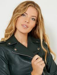 faux leather jacket view 2