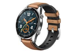 smith huawei watch gt smart watch stainless steel with brown leather strap smart watches