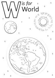 Small Picture Letter W is for World coloring page Free Printable Coloring Pages