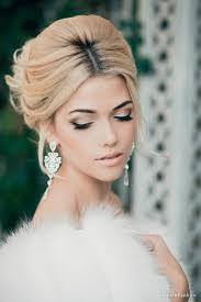 smokey eye and lip bridal makeup looks