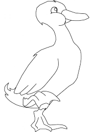 Small Picture Goose Stand with One Foot Coloring Page NetArt