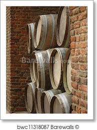 stacked oak barrels. Art Print Of Stacked Oak Barrels W