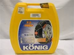 Konig T2 Magic Snow Chains Size Chart Set Snow Chains Konig No Problem Magic T2 Model 104 Tyre Size Not Visible