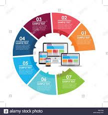 Circle Website Design Responsive Web Design Circle Infographic Vector