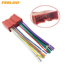 feeldo 1pc car radio cd player wiring harness audio stereo wire  at Installing Wire Harness For Mazda Protege Stereo