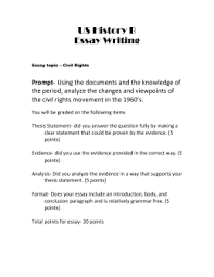 civil rights dbq  final essay civil rights doc