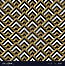 Gold Pattern Awesome Seamless Black And Gold Square Art Deco Pattern Vector Image