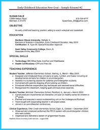 Skills For Early Childhood Education Resume Free Resume Example