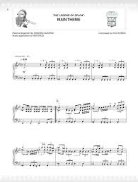 legend of zelda theme sheet music preview the legend of zelda series for piano by koji kondo kozue