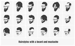 Beard Styles Chart Amazing Black Barber Shop Haircuts Chart