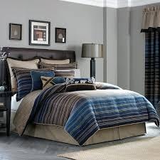 striped bedding set chenille jacquard woven stripe 4 piece comforter set blue striped bedding sets striped striped bedding