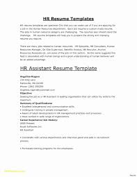 Sample Resume Objectives For Human Resource Assistant Valid Hr