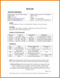 Resume Format For Banking Jobs Resume Format For Bank Jobs Letter Sample Job Pdf Download Freshers