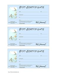 Coupon Template For Word Template Gift Certificate Template In Word Blank Example Free 16