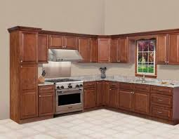 mahogany costco kitchen cabinets with marble countertop