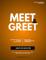 Meet And Greet Flyers Templates Meet Greet Blogger Flyer Template Postermywall