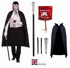 Superior Adult DELUXE VAMPIRE COSTUME Gothic Dracula Mens Halloween Fancy Dress Lot  UK