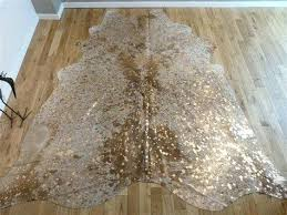 unique metallic cowhide rug nz metallic cowhide rug