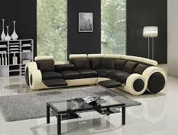 modern leather sectional sofa with footrests