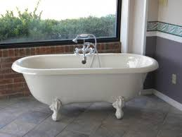 clawfoot bathtubs with large windows for modern bathroom design