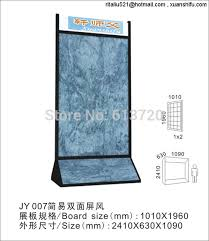 Wallpaper Display Stand Fascinating Double Display Stand Metal Flooring Exhibit Rack For Wallpaper