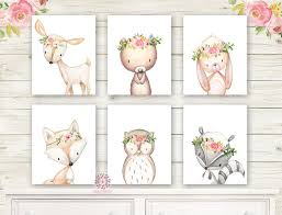 Pink Forest Cafe Nursery & Home Wall Art Prints - Wall Decals Stickers