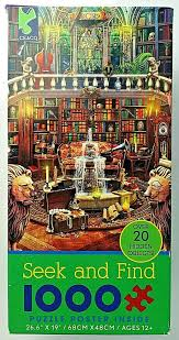 Because there's nothing more satisfying than pushing in the final piece of a puzzle that you've been staring at for the past four days. Jigsaw Puzzle Poster 1000 Pc Seek And Find 20 Hidden Objects Library Ceaco Puzzle Shop Jigsaw Puzzles Poster