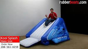 inflatable inground pool slide.  Slide Intex Kool Splash Inflatable Water Slide Video Review By Rubber Boats On Inground Pool