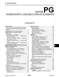 2005 nissan titan power supply ground circuit elements 2005 nissan titan power supply ground circuit elements section pg 80 pages