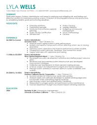 It Systems Administrator Resume Professional System Template Word