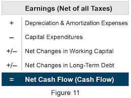most financial ysts and bankers will agree that this is a pretty good definition of net cash flow