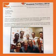 Woodbridge Warrior Football Thank You Letter | Ismiles Kids ...