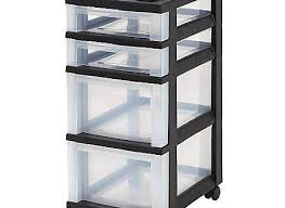 rolling office cart. Rolling Office Cart New IRIS 4 Drawer Plastic Storage 26 716 H X 12 18 W 14 Intended For