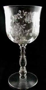 Fostoria Crystal Patterns Extraordinary Our House Antiques Etching Identification And Information Page