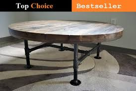 reclaimed distressed round coffee table