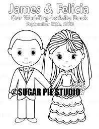 printable personalized wedding coloring activity book favor coloring pages for kids