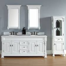 Traditional double sink bathroom vanities Side Cabinet 72 Discount Bathroom Vanities 72